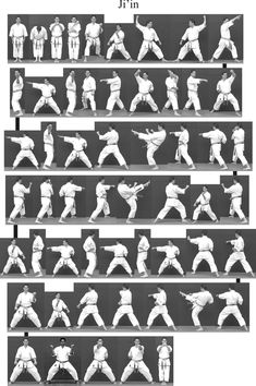 Bitmap_in_1v_Ji_in Kyokushin Karate, Shotokan Karate, Karate Kata, Marshal Arts, Martial Arts Techniques, Martial Arts Workout, Kendo, Action Poses, Aikido
