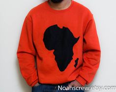Unisex African continent Sweatshirt