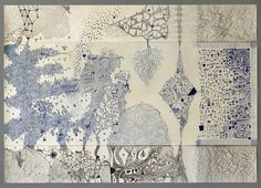 Giant 'intense' doodle as part of Architecture (part II) course (specialising in chance and subconscious methods). Ballpoint pen & Biro on Lining Paper 1380 x 975 [mm] Lining Paper, Biro, Process Art, Ballpoint Pen, Worlds Of Fun, Vintage World Maps, Doodles, Diagram, Tumblr