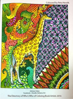 The Directory Of Whos Who Coloring Book Artists 2016