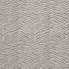 B0870A Grey and Silver Woven Zebra Look Chenille Upholstery Fabric By The Yard