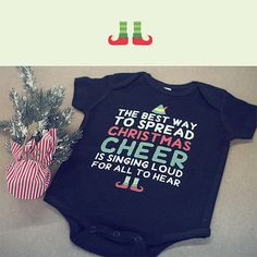 Cute Christmas Theme Baby Bodysuit - Pre-Shrunk Cotton Snap-On Style Baby Onesie