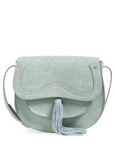 steve madden blue saddle bag