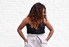 Lace skirt & High waisted tapered pants www.papillonrebelle.com