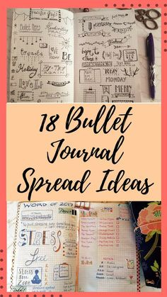 Bullet journal page spread and bujo layout ideas to give you inspiration for your own journaling, complete with a video flip through - Kerrymay._.Makes