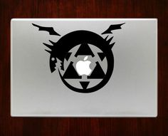 Full Metal Alchemist Symbol Emblem Decals Stickers For Macbook 13 Pro Air Decal #RusticDecal