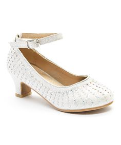 Look at this Adorababy Silver Rhinestone Ankle-Strap Dressy Shoe on #zulily today!