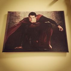 Magnet #1413: Henry Cavill as Superman (9/17/13) because he's guesting on Sesame Street with Super Grover today, and I forgot to set the DVR! #manofsteel #superhero #super #magnets #canyoutellmehowtogetto #sesamestreet Man Of Steel, Henry Cavill, Superman, Magnets, Joy, Superhero, Street, Painting, Glee