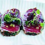 Seared Tuna Carpaccio With Chilli Sesame Dressing