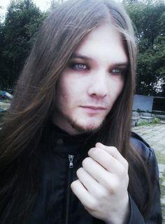Photo by Shawna Fender Goth Men, Goth Guys, Vampires, Beautiful Men, Gothic, Long Hair Styles, Hot, Long Braids, Cute Guys