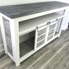 This Faux Reclaimed Wood Farmhouse TV Console Rustic TV Stand is just one of the custom, handmade pieces you'll find in our furniture shops. Farmhouse Furniture, Rustic Furniture, Living Room Furniture, Diy Furniture, Farmhouse Decor, Antique Furniture, Modern Furniture, Furniture Plans, Western Furniture