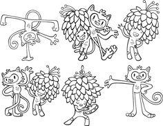 Mascotes das Olimpíadas e Paraolimpíadas Rio 2016