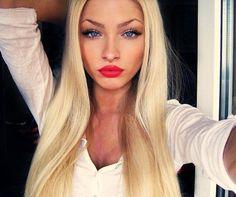 #blonde #makeup #pretty #sexy #hair