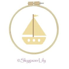 Beginner Modern Cross Stitch Pattern  Yellow Boat  by SkygazerLily, $3.00