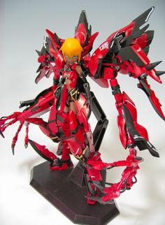 Busou Shinki x Gundam: Black Albino Sinanju Custom Build - Gundam Kits Collection News and Reviews