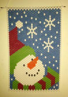 Snowman Beaded Banner