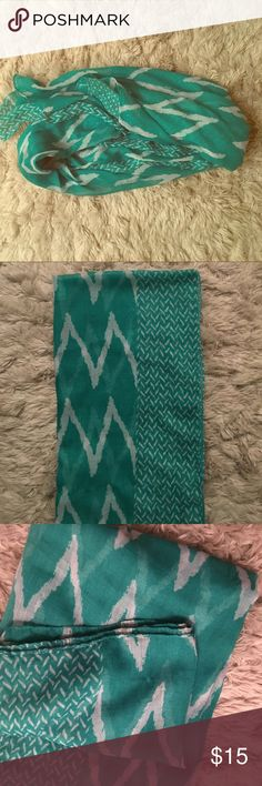 Beautiful Teal Scarf!💚💙 Inside tags have been removed so unfortunately no details. Other than that there are ZERO defects, like new! Perfect for light summer outfits or bundle up with a warmer outfit. Accessories Scarves & Wraps