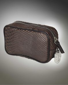 Brown snakeskin makeup bag from V-Collection