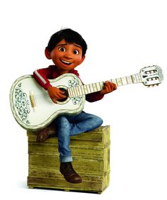 Miguel Rivera playing Hector's guitar from Coco Disney Pixar, Coco Disney, Disney Wiki, Disney Animation, Disney Parks, Pixar Movies, Disney Movies, Disney Magic Kingdom, Disney California Adventure