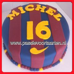 FC Barcelona cake Barcelona Cake, Barcelona Party, Sport Cakes, Projects To Try, Birthdays, Birthday Cake, Cupcakes, Party Ideas, Sporty