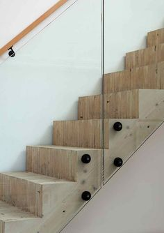 Mork Ulnes Clayton Street, San Francisco, Wood Stair, Glass Bannister | Remodelista