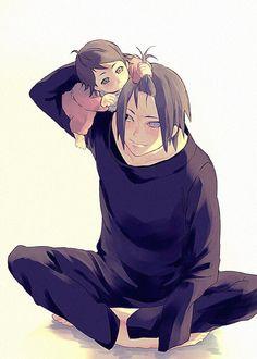 Sarada;  Sasuke Uchiha