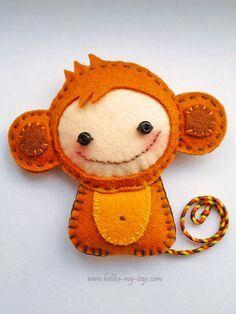 Małpka - filc