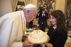 A chorus burst of 'Happy Birthday' and the smell of birthday cake filled the Vatican today as a crowd of young people from the Italian lay movement 'Azione Cattolica' gathered to festively wish Pope Francis a happy birthday as he turned 79 years old.