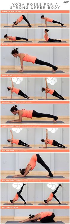 Yoga Poses for a Strong Upper Body #Yoga