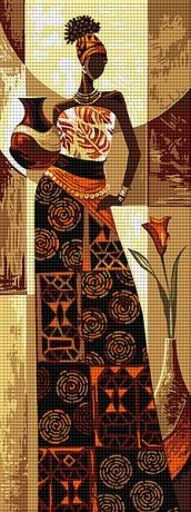 Africana                                                                                                                                                                                 Más Ribbon Embroidery, Cross Stitch Embroidery, Embroidery Patterns, Cross Stitch Patterns, African Artwork, Africa Art, Black Artwork, African American Art, Le Point