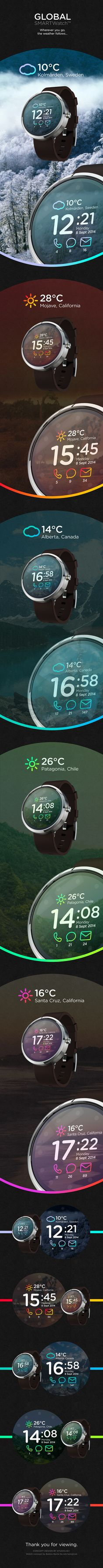 Global SMARTWatch™ // Concept on Behance