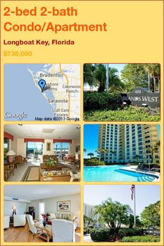 2-bed 2-bath Condo/Apartment in Longboat Key, Florida ►$735,000 #PropertyForSale #RealEstate #Florida http://florida-magic.com/properties/1315-condo-apartment-for-sale-in-longboat-key-florida-with-2-bedroom-2-bathroom
