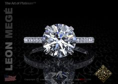 Cosmo™ engagement ring featuring a G/SI1 2.62 carat round brilliant diamond by Leon Megé