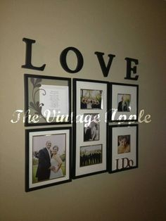 Michelles Desk Wedding Gallery Wall And Our Song