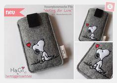 Smartphonetasche Filz Waiting for Love von HaGi by Herzig ♥ Genaehtes auf DaWanda.com
