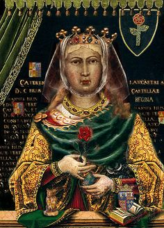 Catherine of Lancaster (31 March 1373 – 1418) was Queen of Castile as the wife of King Henry III of Castile. Queen Catherine was the daughter of John of Gaunt, 1st Duke of Lancaster, and his second wife, Constance of Castile (the daughter and heir of King Peter of Castile, who died at the hands of his half brother Henry II). She was born in Hertford Castle, her father's chief country home, on 31 March 1373. Catherine became Queen of Castile through her marriage to Henry III.