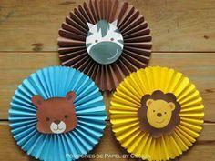 más y más manualidades: Decora una fiesta infantil usando rosetones de papel