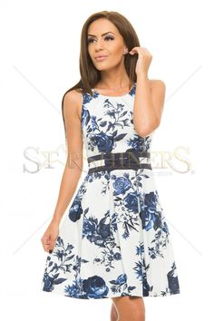 LaDonna Only Blossoms White Dress