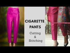 Cigarette pant cutting and stitching Full Tutorial in Malayalam|| pencil pant - YouTube