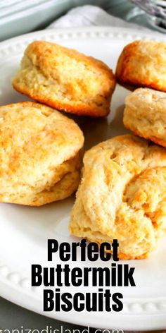 These easy buttermilk biscuits come out soft and flakey every single time. Great for dinners or biscuits with gravy.