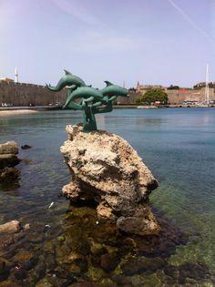 Rhodes Harbour, Rhodes, Greece.
