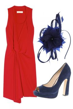 What to Wear to a Wedding  Want to impress at this year's weddings? We've got just the thing...    WEDDING GUEST OUTFITS  Shun more muted attire and add a splash of colour to proceedings in this tomato red dress from the Michael Kors diffusion line. Smart navy blue accessories will finish things off nicely.