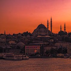 Magical sunset in a magical city.