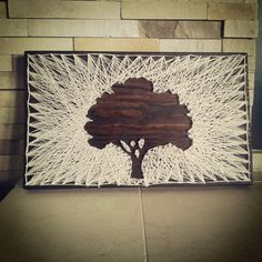 Vintage Style String Art Made Modern Oak Tree by UpcycleChick