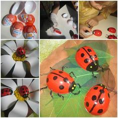 How to Make Painted Ladybug from Easter Egg