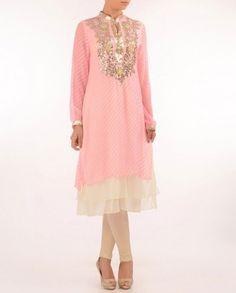 #Exclusivelyin, #IndianWear, #Fashion, Light Pink Leheriya Tunic