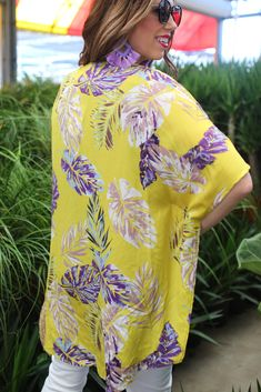 Shop Jess Lea Boutique-rinity Tropical Print Kimono #jesslea #jessleaboutique #jessleastyle #casualstyle #momstyle #casualoutfit #easyoutfit #ootd #boutique #boutiquestyle #kimono #floralkimono #beachkimono #lightweightkimono #springoutfit #summeroutfit #floral #yellow #beautifulkimono Floral Kimono, Floral Maxi Dress, Boutique Clothing, Fashion Boutique, Simple Outfits, Casual Outfits, Beach Kimono, Lace Trim Shorts, Maxi Shirt Dress