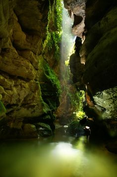 Ecuador  The gorge is located in the Napo-Galeras National park in the eastern region of Ecuador. It is only accessible by foot and surrounded by protected primary rainforest.