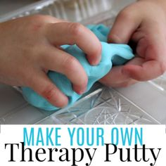 Occupational Therapy Activities, Speech Therapy Activities, Kindergarten Activities, Activities For Kids, Behavioral Therapy, Therapy Putty, Hand Therapy, Homemade Putty, Child Psychotherapy