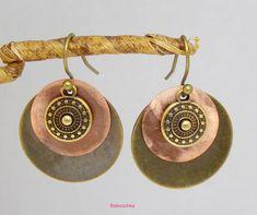 Boucles d'oreilles bronze Milli en nacre et